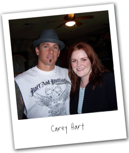 Carey Hart (left)